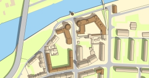 Hansequartier Lageplan