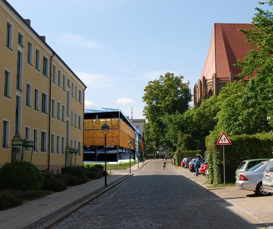 Parkhaus Fotomontage